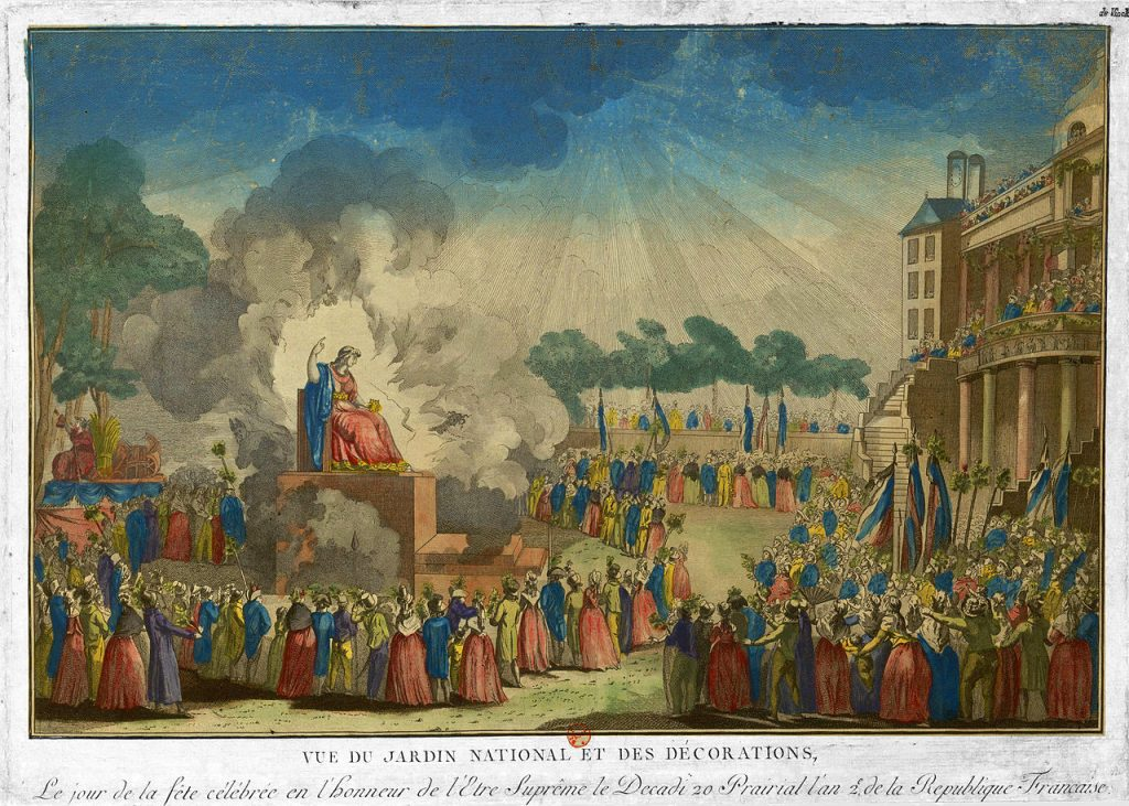 Worship of the supreme being of the French Revolution